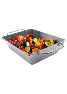 Mély rozsdamentes grill wok
