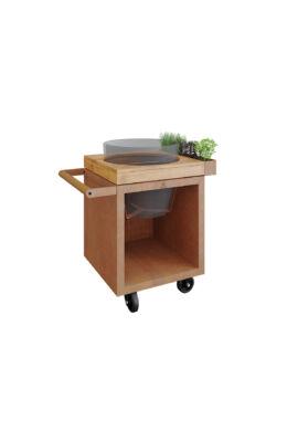 OFYR Kamado Asztal - Corten 65 PRO Teak Wood KJ