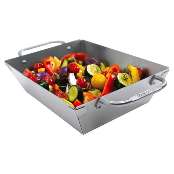Mély rozsdamentes grill wok, Grill kiegészítő , grillsütő